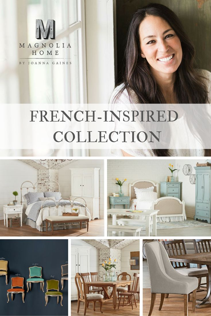 Take a closer look at the French-Inspired pieces in the Magnolia Home by Joanna Gaines furniture line! #magnoliahome #joannagaines