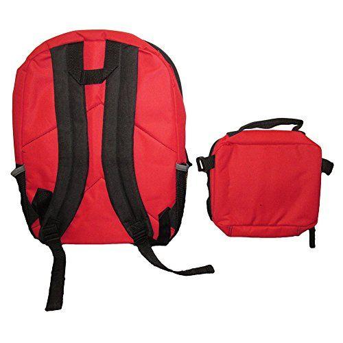 DC Comics Batman v Superman Backpack w/ Detachable Lunch Bag Set - Red/Black, , 14.99