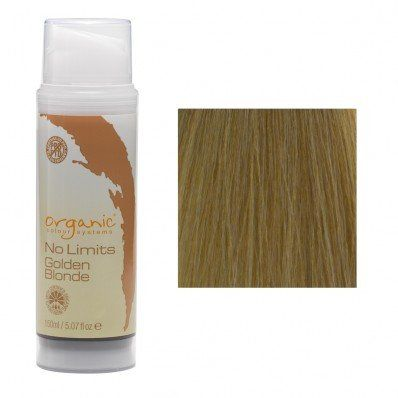 Organic Colour Systems No Limits Semi Permanent Color (Golden Blonde). No direct dyes rather than oxidative pigments. Free from both PPDs and PTDs.