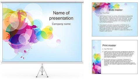 Abstracción lienzo Plantillas de Presentaciones PowerPoint