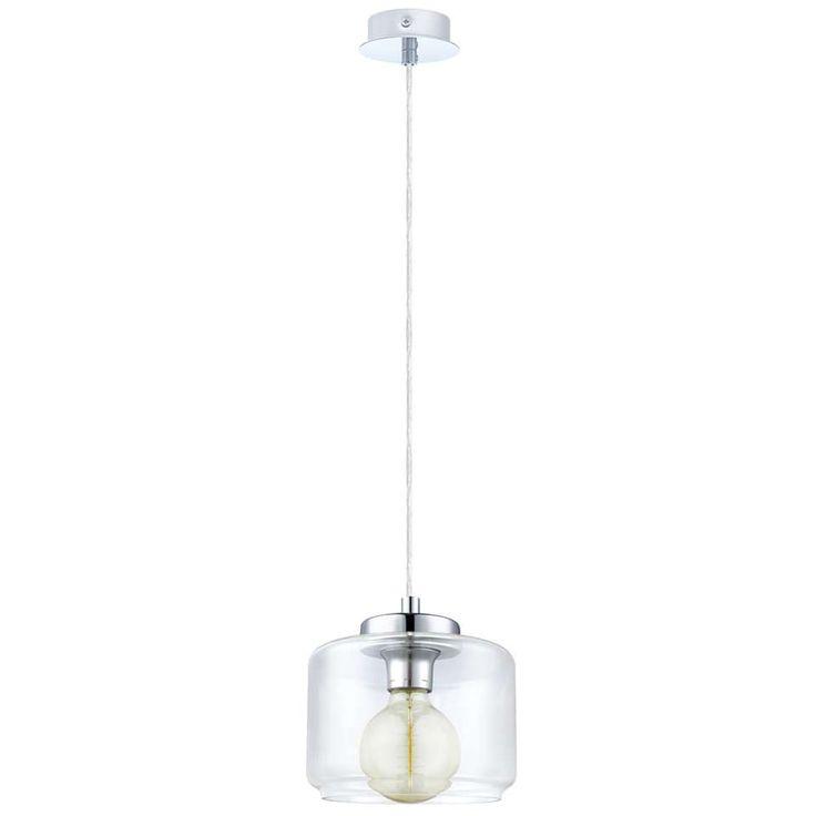 eglo hanglamp brixham chroom helder interieur pinterest. Black Bedroom Furniture Sets. Home Design Ideas