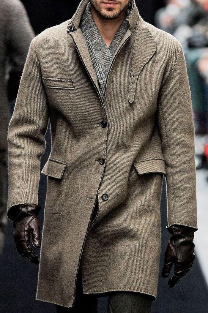 Veste tweed beige homme