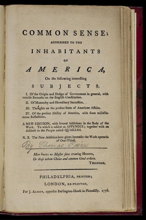 a comparison of thomas paines common sense and thomas jeffersons declaration of independence Get in-depth analysis of declaration of independence, with this section on thomas paine, common sense (january 10, 1776.