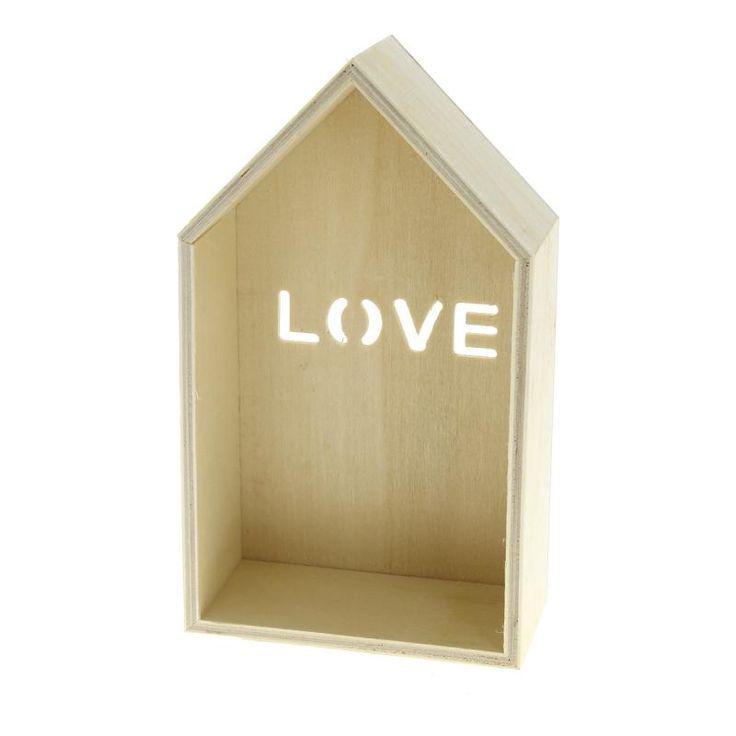 Compra nuestros productos a precios mini Casa Love de madera para decorar - 18 x 10,5 x 5 cm - Entrega rápida, gratuita a partir de 89 € !