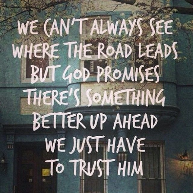 Trust: my word for the year! it keeps popping up everywhere!