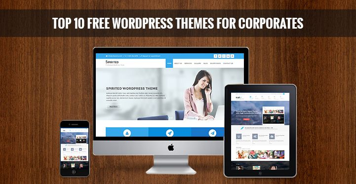 Top 10 Free WordPress Themes for Corporates  | Free Wordpress Themes http://www.sktthemes.net/product-category/free/
