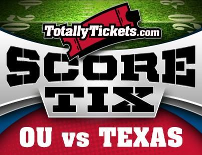 Predict the OU vs Texas score at fb/TotallyTickets and WIN OU Tickets or a $100 Gift Certificate at TotallyTickets.com #BeatTexas #Sooners
