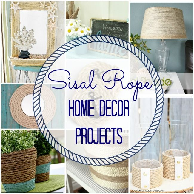 Nautical Inspired Sisal Rope Home Decor Ideas #summer #nautical