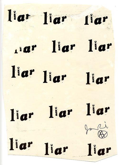 liar - 1977. jamie reid archive.