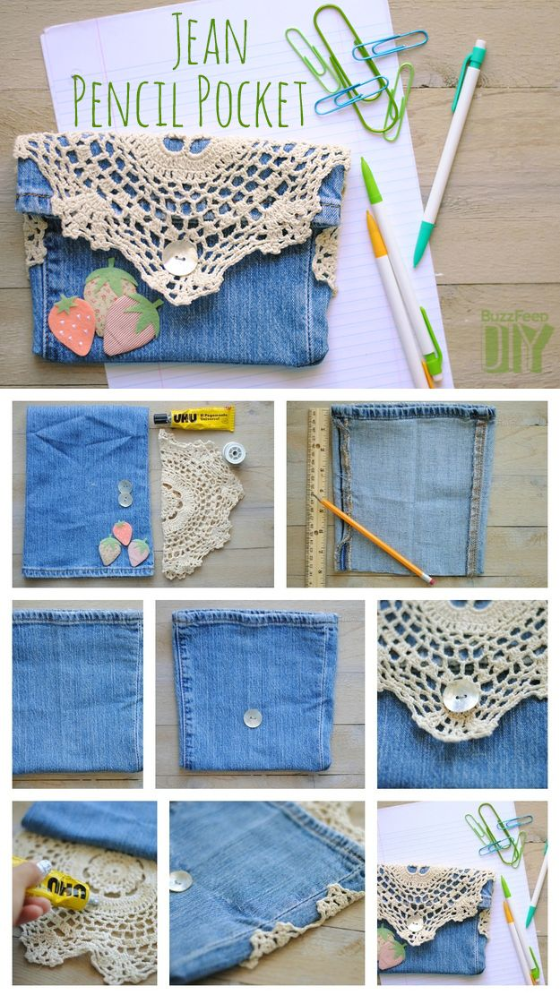 4. Jean Pencil Pocket | 10 DIY Pencil Cases That Make The End Of Summer A Little Less Sad