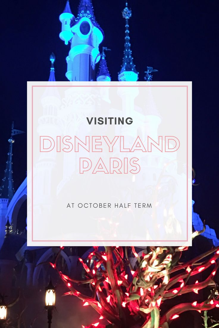 Everything you need to know about visiting Disneyland Paris at October Half Term for Halloween.
