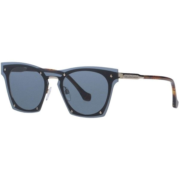 Balenciaga Sunglasses ($185) ❤ liked on Polyvore featuring accessories, eyewear, sunglasses, black, two tone glasses, 2 tone sunglasses, balenciaga sunglasses, two-tone sunglasses and balenciaga