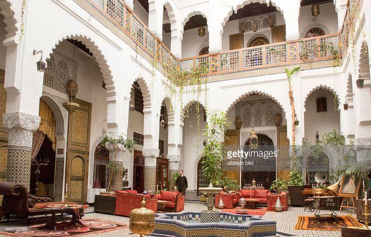 Hotel, Restaurant und Gästehaus Dar el Ghalia in einem historischen Rijad in der Altstadt von Fes, Marokko