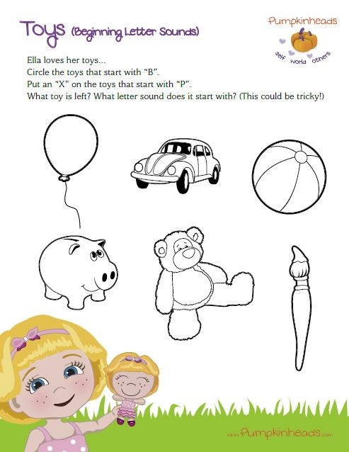 Toys That Start With A : Best preschool toddler pumpkinheads worksheets images