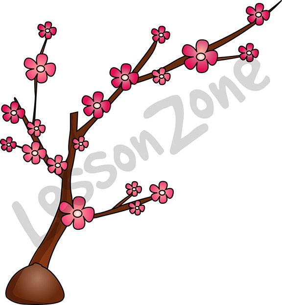 Bring the excitement of the Chinese New Year to your classroom with this illustrated plum tree. Available in PNG format at 300 DPI resolution with a transparent background for classroom use. This illustration is also available in black and white.  To download, visit lessonzone.com.au