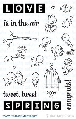 Your Next Stamp WORD CRITTERS SPRING BIRDS Clear Stamp Set CYNS200 at Simon Says STAMP!