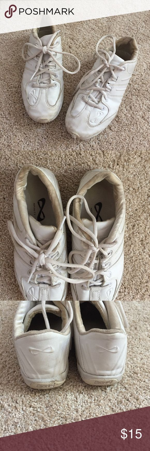 Infinity Cheerleading Shoes Definitely worn but still have life!! Just needs some cleaning and love. Feel free to make an offer!! Shoes Sneakers