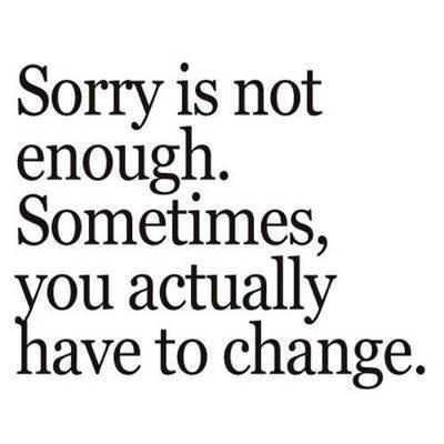 ...some dont even know how to say sorry, false pride