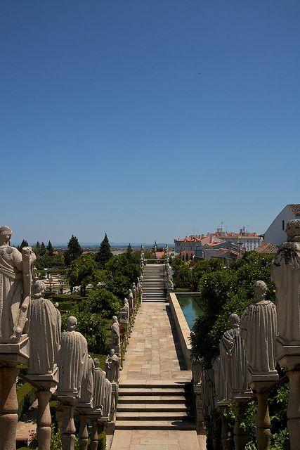 O jardim do Paço Episcopal - Castelo Branco, Portugal