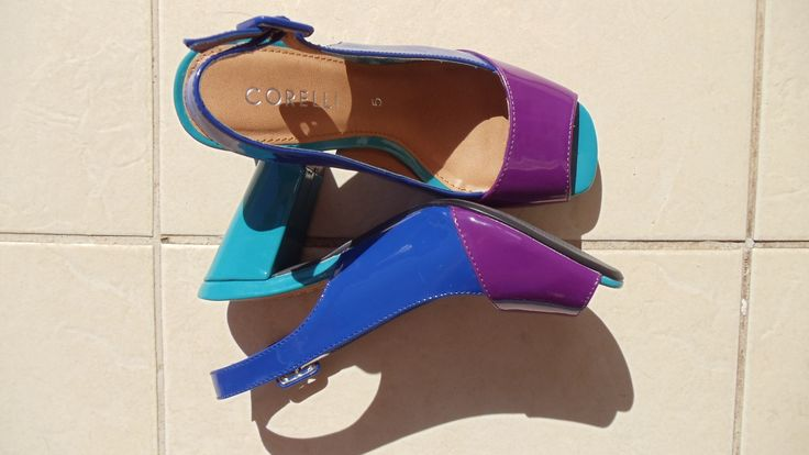 Multi coloured sling backs!