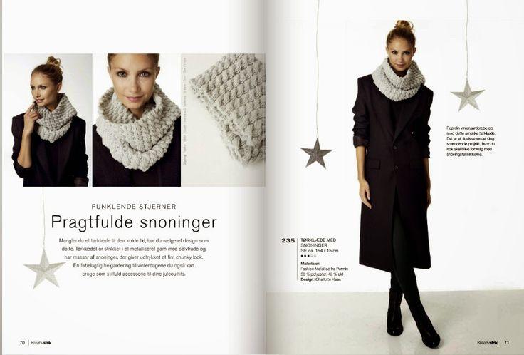 Pragtfulde snoninger, Charlotte Kaae design for Kreativstrik nr 6, www.bykaae.dk