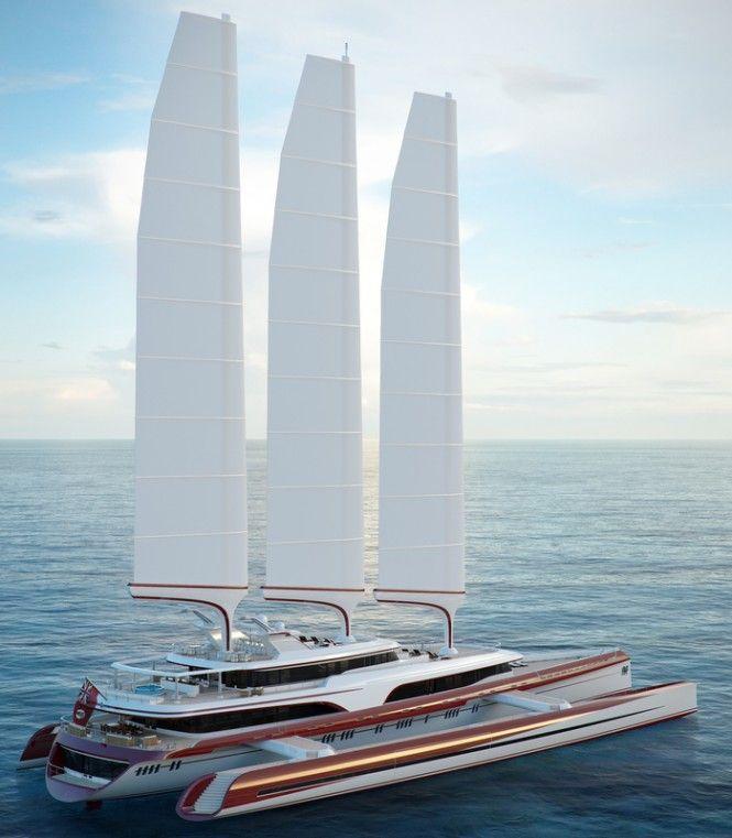 Sailing yacht Dragonship 80m we love float planes and amphibian aircraft…