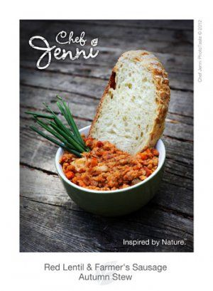 Chef+Jenni's+Red+Lentil+and+Farmer's+Sausage+Stew+|+SaskMade+Marketplace.  #SaskMade