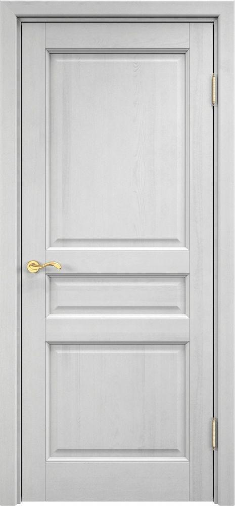 Межкомнатная дверь Массив Сосны  5ш (белый воск) | Дом Дверей