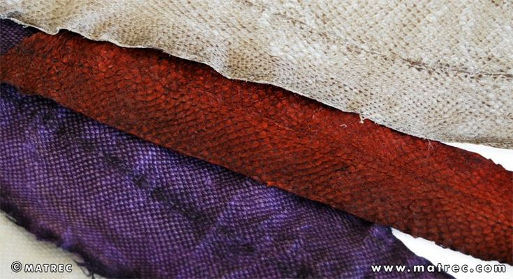 Material made of recycled sea bass and sea bream leather, recovered from waste of the fishing industry. It is used in the production of footwear, clothing, fashion accessories, jewelryand furniture.