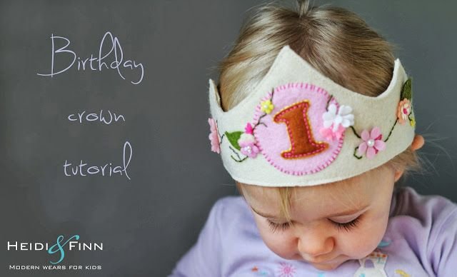 HeidiandFinn modern wears for kids: Birthday Crown Tutorial - and free pattern