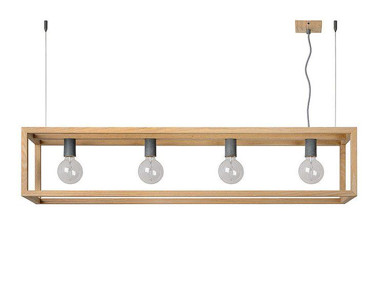 Caractéristiques techniques : Suspension barre 4 lumières en bois Oris Matière : bois plaqué Dimensions : Longueur : 120 cm Largeur : 25 cm ...