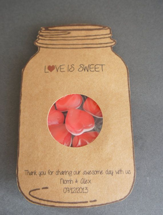 50 Love is Sweet Wedding favours por LivaLittleBakery en Etsy