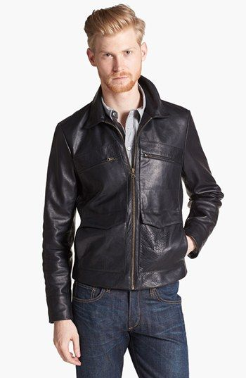 Billy Reid Leather Flight Jacket available at #Nordstrom