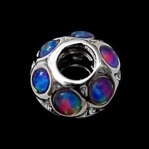 Opal Pandora beads: opal set in sterling silver beads that fit onto existing bracelets and pendants