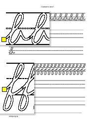 Schrijfwerkbladen van letters