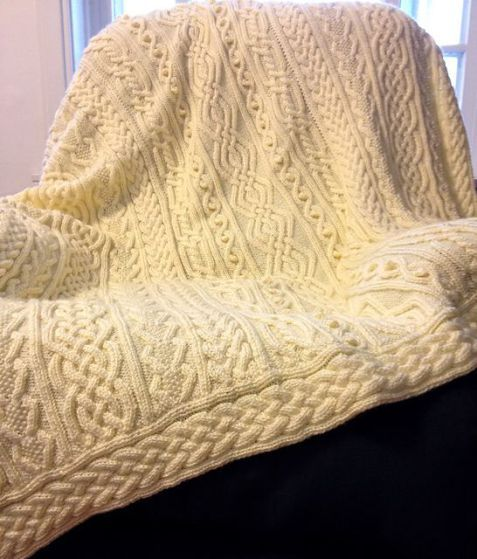 how to make a cable knit blanket