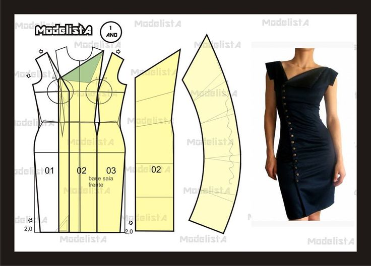 Modelagem vestido. Fonte: https://www.facebook.com/photo.php?fbid=557835884252321=a.426468314055746.87238.422942631074981=1