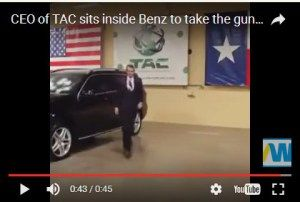 Mercedes Boss Sits Inside Benz To Take The Gun Shots In His Bullet Proof Car