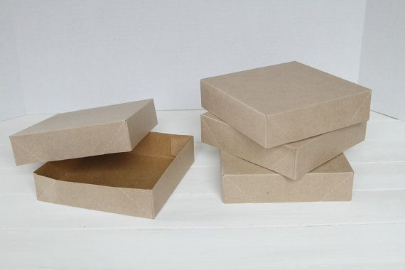 100 Kraft Gift Boxes 6.5 x 6.5 x 1 5/8 by FancyThatLoved on Etsy