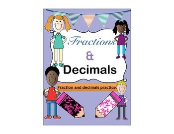 $5.00  This 40 Day Fraction and Decimal Practice Printable Activity is a great tool for you to keep your students on track with fractions and decimals!!   This packet is great to help maintain or refresh your students  abilities with fractions and decimals.