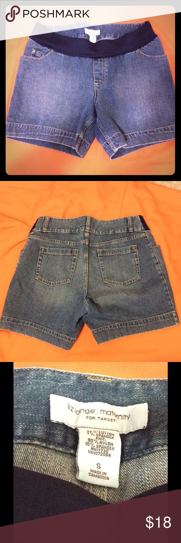 Liz Lange Maternity Denim Shorts Size Small In great condition. Size Small. Has stretch on waistline. Liz Lange for Target Shorts Jean Shorts
