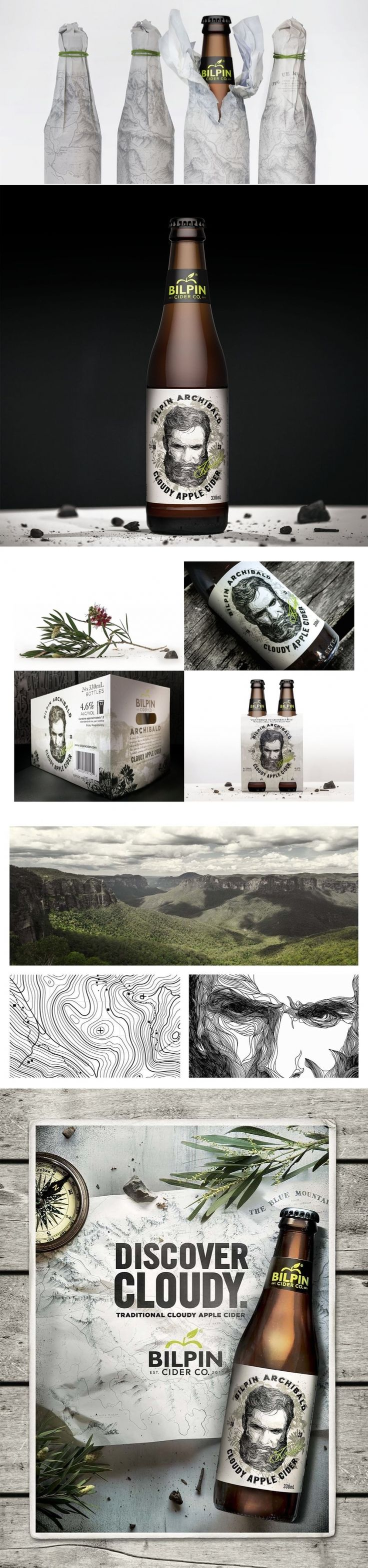 Bilpin Archibald – Cloudy Apple Cider — The Dieline | Packaging & Branding Design & Innovation News
