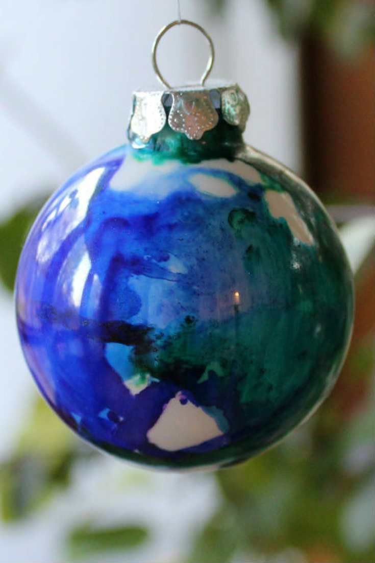 Diy Ornament Ideas Christmas Ornaments With Alcohol Inks