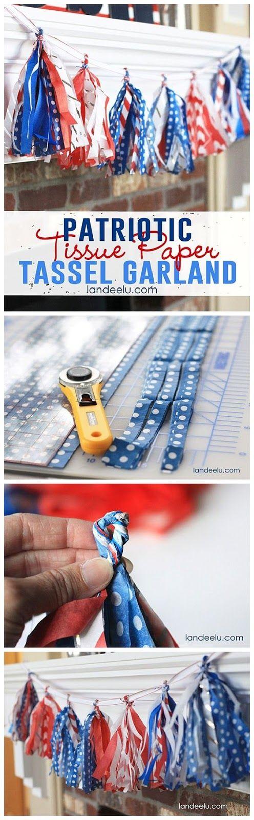 DIY patriotic garland