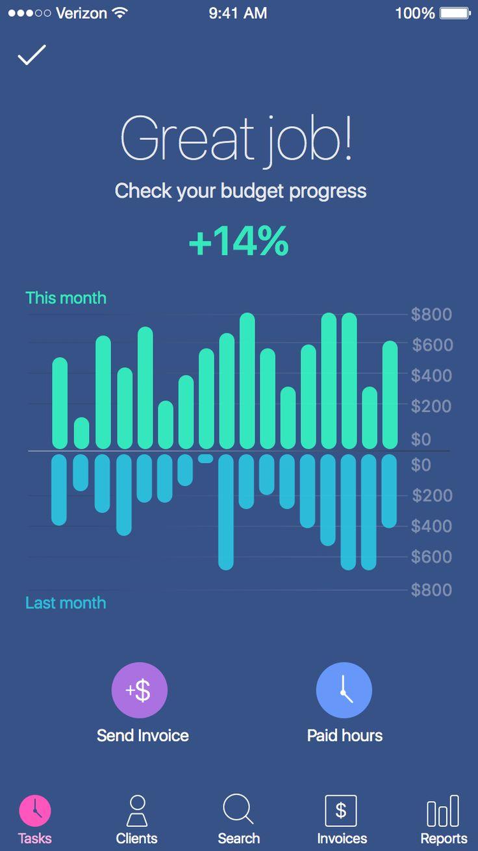 Time tracker – User interface by Oleksiy Tymoshenko