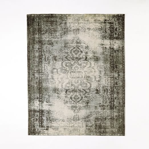 West Elm Round Rug Amazing Area Rug Best Round Area Rugs: Distressed Arabesque Wool Rug - Steel