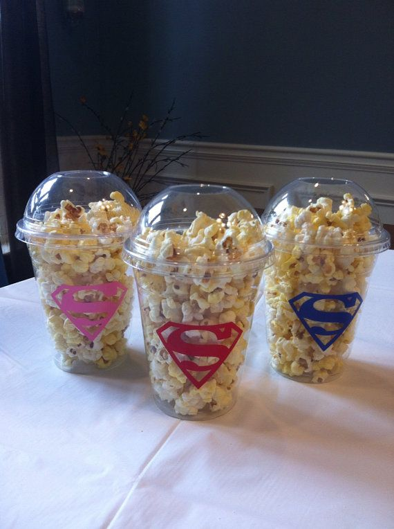 Personalized Superman Popcorn/Candy Cups ~ set of 12 on Etsy, $13.99