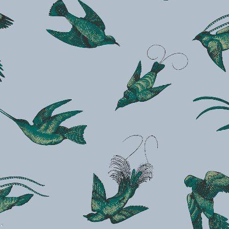 Design tapéták   Cole and Son Frontier kollekció   Tropical Birds tapéta