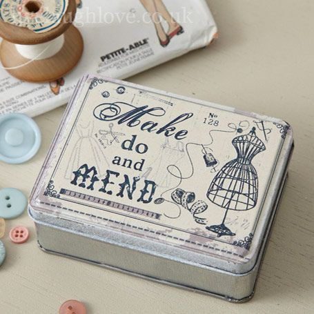 Sewing Tin - Make do and Mend