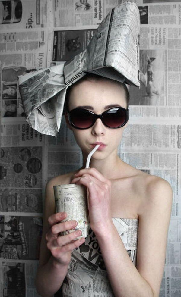 20 Creative Newspaper Craft Fashion Ideas – #20cre…